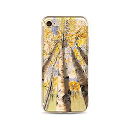 Teléfono de hermoso diseño online-Para el caso del iPhone 7/8, impresión colorida Ultra Thin Fit Pattern Funda suave del teléfono del silicón de TPU, diseño único Beautiful Graffiti landscape