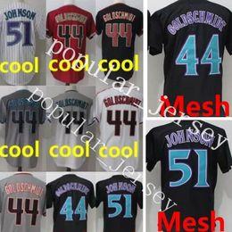 Wholesale High Johnson - 44 Paul Goldschmidt 51 Randy Johnson Jersey Cheap sales High quality Men's stitched Baseball Jerseys Free Shipping M-XXXL