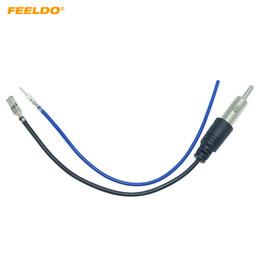 adaptador de antena estéreo de carro Desconto FEELDO DIY Car Universal Rádio Estéreo 1 PIN Plugue Fio Adaptador de Antena Para Nissan Honda Subaru KIA Hyundai # 5779