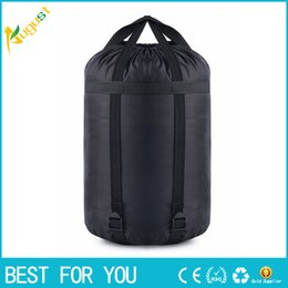 Wholesale Compression Bag Camping - Lightweight Nylon Waterproof Compressed Stuff Sack Bag Outdoor Traveling Camping Bag Storage Saving Bags