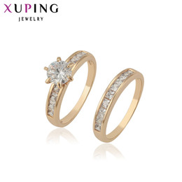 Wholesale Fashion Jewelry Deals - whole sale11.11 Deals Xuping Fashion Ring Top Quality Classical Charming Love' s Ring Synthetic CZ Wholesale Christmas Jewelry 12888