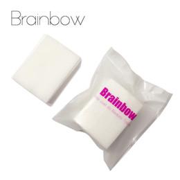 Algodón de manicura online-Brainbow 400pc Esmalte de uñas Limpieza Toallitas secas Algodón Gel UV Removedor de esmalte de uñas Art Dry Papers Pads Art Manicure Tools