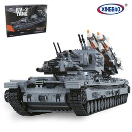 Wholesale Military Boxes - XingBao 06006 The KV-2 Tank Set 3663pcs with Original Box for Reselling Lepin Blocks Genuine Creative MOC Military Series XB06006 Lepin Toys