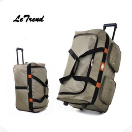 Wholesale Travel Trolley Wheels Luggage Bag - Letrend 32 inch High-capacity Study abroad Rolling Luggage Wheels Suitcase Handle Travel Bag Checked luggage Trolley Men Trunk