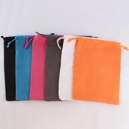 48927da22 100pcs lot 15*20cm High Quality Custom Logo Printed Suede Drawstring Bag  Pouch Jewelry Gifts Packing Box Pouch