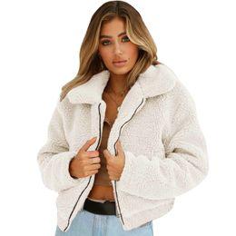 2019 cappotti di pelliccia di cashmere donne New Winter Women Fleece Parka  Cashmere Loose Thick Cardigan c82a21b8a1a