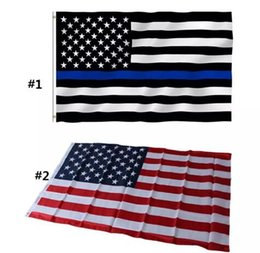 Usa латунь онлайн-90 * 150 см США Флаги Синяя Линия Полиция США Флаги 3x5 футов Тонкая Красная Линия Черный Белый И Синий Американский Флаг с Латунными Прокладками