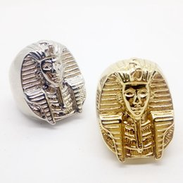 Wholesale Egyptian Rings - whole saleMysterious Egyptian Pharaoh Rings for Mens Stainless Steel King Ring 2018 Male Punk Rings HiP-Hop Jewelry