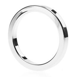 2019 délai cock ring Anneaux péniens en aluminium en métal retardent l'éjaculation 50mm anneaux de pénis en aluminium d'espaces promotion délai cock ring