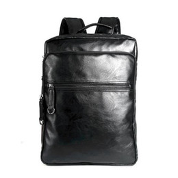 Wholesale Free Soft Books - Men Leather Backpack High Quality Youth Travel Rucksack School Book Bag Male Laptop Business backpack free shipping