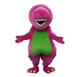 traje adulto dinossauro frete grátis Desconto Barney Dragon Mascot trajes em Adulto Tamanho Barney dinossauro Mascot costume + Frete Grátis