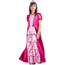 2019 trajes de rubíes Disfraz de princesa rubí princesa para niña trajes de rubíes baratos