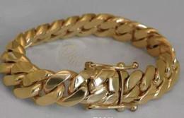 """Miami cuban gold fill en Ligne-Bracelet Cuban Curb Link en or 14K pour homme de Miami 8 """"lourd 99,7 grammes 14mm"""