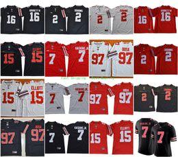 2018 NCAA Ohio State Buckeyes  7 Dwayne Haskins Jr.  2 JK Dobbins  97 Nick  Bosa 15 Ezekiel Elliott 16 JT Barrett IV College Football Jerseys 617a17ed4
