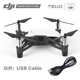 Rc videos voladores online-Comercio al por mayor RYZE Tello Drone con 720 P Cámara Wifi Control Realizar Flying Stunts disparar videos rápidos con EZ Shots Toy RC Quadcopter