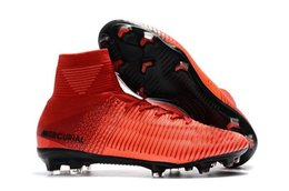 HighTop Mens Kids Soccer Shoes fire Mercurial Superfly V FG Boys Football  Boots Women Youth Soccer Cleats Cristiano Ronaldo green youth football  cleats on ... bc1203cc5