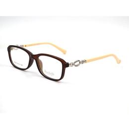 Templo de decoracion online-Nueva Decoración Femenina Lentes Claros Gafas Marco Gafas transparente Cuadrado Espectáculo Hollow Out Pacthwork Temple Eyewear Z8