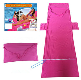 Wholesale Fleece Towel - 73*210cm Microfiber Sunbath Lounger Bed Lounger Mate Quick Drying Beach Towel Holiday Garden Beach Chair Cover Towels Blanket OOA4702