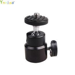 """Kopf montiert camcorder kameras online-Mini Ball Head 1/4 """"Halterung für DLSR Kamera Camcorder LED Light Flash Bracket"""