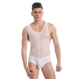 dff2b6b66dfd4 Sexy Men s Bodysuit Mens Perspective Leotard Man Shapers Belly Slimming  Corset Male Body Sculpting Pulling Underwear