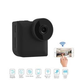 2019 mini-nuit surveillance de vision caméscope C3 WiFi IP Mini Caméra sans fil de contrôle avec clip magnétique 720p HD portable vision nocturne sports Caméra de surveillance de sécurité à domicile caméra