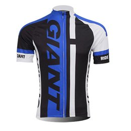 Wholesale giant outdoor - GIANT team Cycling Short Sleeves jersey man tops 2018 New Bike Outdoor sportswear quick dry c1401