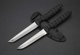 2019 nuevos cuchillos de supervivencia NUEVO ACERO FRÍO 20BTJ Samurai HOJA FIJA CUCHILLO SECURE-EX CUELLO DE CAMPANA TACTICAL CAMPING CAZA SUPERVIVENCIA BOLSILLO EDC HERRAMIENTAS DE MANO Colección rebajas nuevos cuchillos de supervivencia