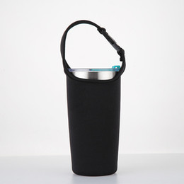 Funda negra para bolsa de 20 onzas Bolsa portavasos Bolsa de aislante de neopreno para caja de botella de agua de 17oz desde fabricantes