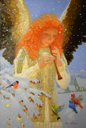 Wholesale digital abstract art - Victor Nizovtsev Oil Painting Fantasy Mermaid series Art Reproduction Giclee Print on Canvas Modern Wall Home Art office Decoration VN114