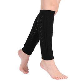 Wholesale Wholesale Hollow Knee Boots - Women Winter Warm Crochet Knit High Knee Leg Warmers Leggings Boot Hollow Casual Legging Cheap#YL