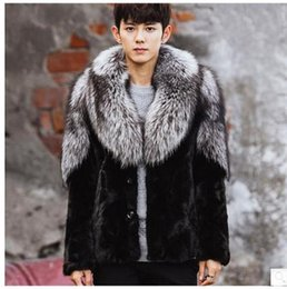 Wholesale Fox Clothing Men - Wholesale- New Arrival Mens Faux Fox Fur Patchwork Jackets Casual Large Size Winter Autumn Warm Male Faux Fur Overcoats Clothes Coats Cj71