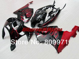 Wholesale 1996 Zx7r Red - K248 BODY KIT Red flames blk Fairing for KAWASAKI Ninja ZX7R 96-03 ZX-7R1996-2003 ZX 7R 96 97 98 99 00 01 02 03 1996 2003