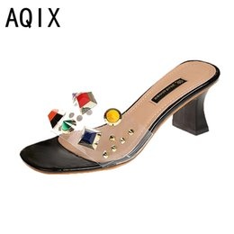 Wholesale Fishing Spools - Hot Sale Women Summer Fashion Leisure shoes women heel height wedges Fish Mouth Sandals Thick Bottom Slippers Pink White Beige