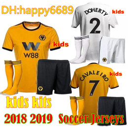 3e4750bddcc 2018 2019 KIDS KIT ADULT HOME SHIRT Wolverhampton Wanderers Customized Soccer  Jerseys Diogo Jota Leo Costa WOLVES FC Football Shirt