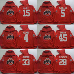 Camisola de estado on-line-Homens Ohio Estado Buckeyes Coollege Jersey 97 Joey Bosa 12 C.JONES 16 BARRETT 1 B. Miller 15 Elliott Camisolas Vermelhas Hoodies Moletons