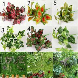 Gros-Vente 1 pc Nouvelle Diverse Haute Qualité Plantes Artificielles Intérieur En Plein Air Faux Feuille Feuillage Bush Bureau Jardin Décor Intérieur Design ? partir de fabricateur