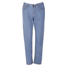 Wholesale Purple Ladies Jeans - Lady High Waist Washed Light Blue True Denim Pants Boyfriend Jean Femme Women Jeans Pants XXL