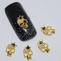 calaveras de diamantes de imitación de aleación Rebajas 10psc New Crown skull 3D Nail Art Decorations, Encantos del clavo de la aleación, uñas de los Rhinestones Suministros # 420