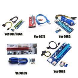 Кабель для передачи данных с карты онлайн-PCI-е Вер 006 006C готовые 007 008C 009S Ver006C Ver008C Ver009S Экспресс Райзера 1х-16х порта USB 3.0 кабель для передачи данных для BTC биткоин майнер