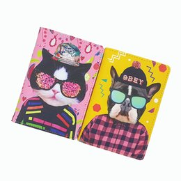 Wholesale Money Makeup - PU Leather travel passport Cover,Funny animal makeup passport holder ,Can accommodate tickets cards money 4 kinds for choose