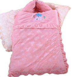 Wholesale Baby Thick Blankets - Winter thick winderproof Newborn Envelope Blanket 2016 new Baby Sleeping Bags for Children Sleepsacks in Stroller Infant Fleabag