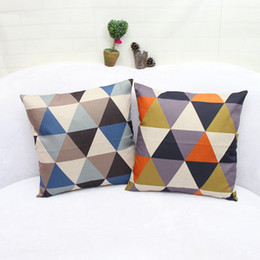 Wholesale high sofas - Abstraction geometric triangle simple pillows high quality hotel home sofa decor pillow cover waist cushion pillow size 45*45cm