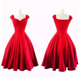 Wholesale Swing Back - 1950s Vintage Evening Prom Dresses 2018 Casual Dresses Inspired Rockabilly Swing Party Dresses for Women Plus Size Custom Made