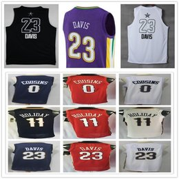 Wholesale Demarcus Cousins Jersey - College Purple The City Edition #23 Anthony Davis Jersey Blue #11 Jrue Holiday Stitched Red White #0 DeMarcus Cousins Basketball Jerseys