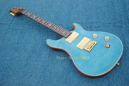 Wholesale cheap guitar strings china - Blue Flame Top Electric Guitar Anniversary High Quality China Guitars Best OEM Cheap