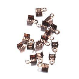 Wholesale Cord Ends Caps Crimp - 1000pcs lot 3*6mm fit 2mm Cord End Caps End Clasps Crimp Beads Antique Bronze Color Connectors for Jewelry Making Findings