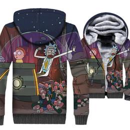 Anime felpe con cappuccio rick and morty swag 2018 divertente 3D stampa  giacche uomo hispter hip-hop tute di marca inverno fodera in lana spessa  cappotti e418b4e9c9a8