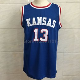 13 Wilt Chamberlain Kansas Jayhawks KU College Basketball Jersey  Embroidery Stitched Custom any Number and name ku basketball jerseys deals 85e9cdb74