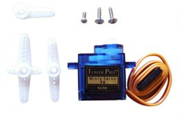 Micro mini rc helicópteros online-20Pcs-Pack SG90 Micro Servo Motor Mini 9g Servo Para RC Helicóptero Avión Barco Barco TOY Robot controles