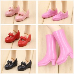 Wholesale Pink Rubber Doll - Free shipping Blyth doll rubber shoes pink boot etc five style for choosing suitable for joint body doll Factory Blyth
